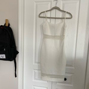 Topshop white dress with mesh